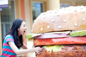 mega hamburger